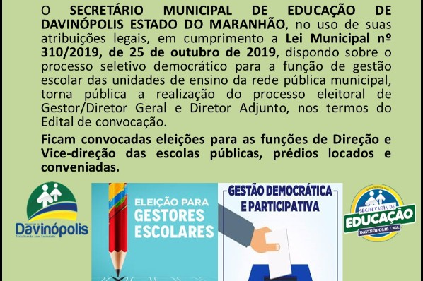 Eleição Para Direção Escolar