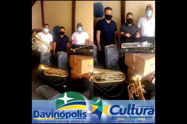 Davinópolis recebe 12 kits de instrumentos musicais nesta terça-feira (06)