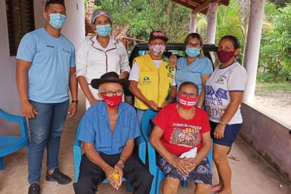 Saúde realiza atendimento de coleta em domicílio na zona rural de Davinópolis