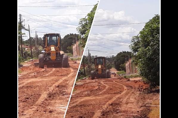 Prefeitura de Davinópolis faz manutenção de ruas danificadas pelas fortes chuvas